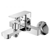 Смеситель для ванны  Haiba Kubus 006 с встроенным в корпус переключением на душ - Euro(букса)