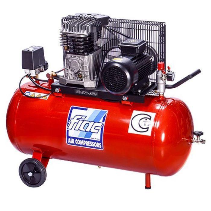 Компрессор поршневой с ременным приводом, Vрес=100л, 360л/мин, 220V, 2,2кВт FIAC AB100-360-220-ITALY