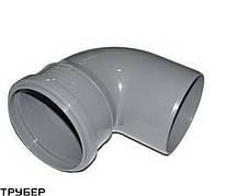 Колено 110*90 для внутренней канализации Инсталпласт