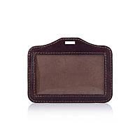Бейдж шкіряний  MOBICASE NC-03-Ch450 коричневий шоколад