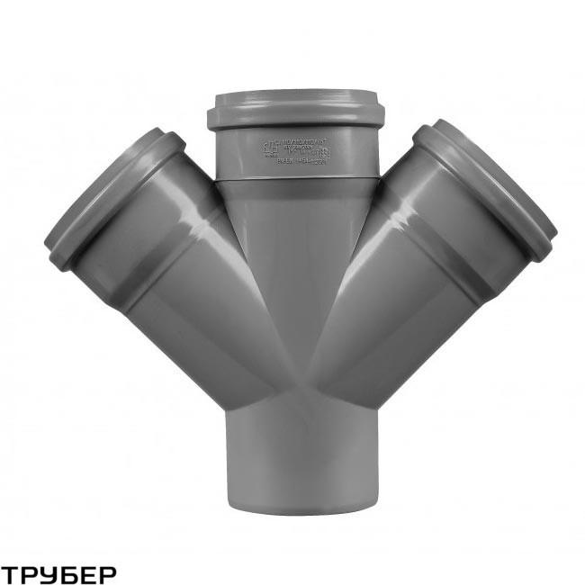 Крестовина 110/110/110*45 для внутренненей канализации Инсталпласт