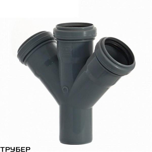Крестовина 50/50/50*45 для внутренненей канализации Инсталпласт