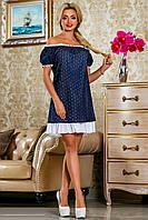 Летнее платье с прошвой 2248 44–50р. в расцветках, фото 1