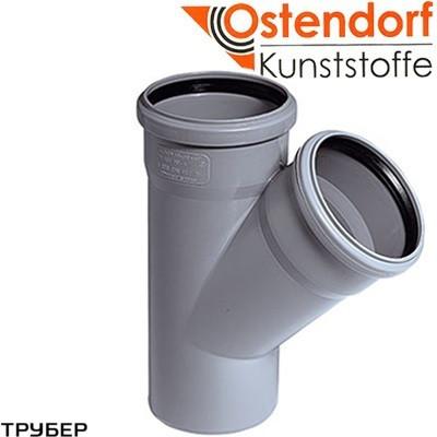 Тройник 110*110*45* для внутренней канализации Ostendorf