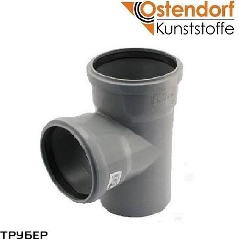 Тройник 110*110*87* для внутренней канализации Ostendorf