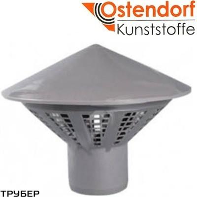 Зонт вентиляционный ПП 50 для внутренней канализации Ostendorf