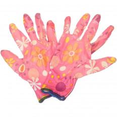 Перчатки нейлоновые Цветочек