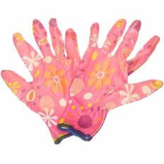 Перчатки нейлоновые Цветочек, фото 2