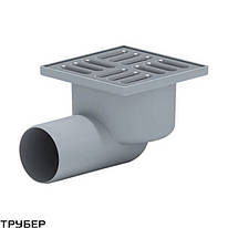 Трап горизонтальный с сухим затвором(150*150) ПП 50 для внутренней канализации Ostendorf