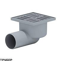 Трап горизонтальный с сухим затвором(150*150) ПП 110 для внутренней канализации Ostendorf