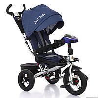 Трёхколёсный велосипед Бест Трайк Best Trike 6088 F - 2230 синий с фарой и пультом. Поворотное сиденье.