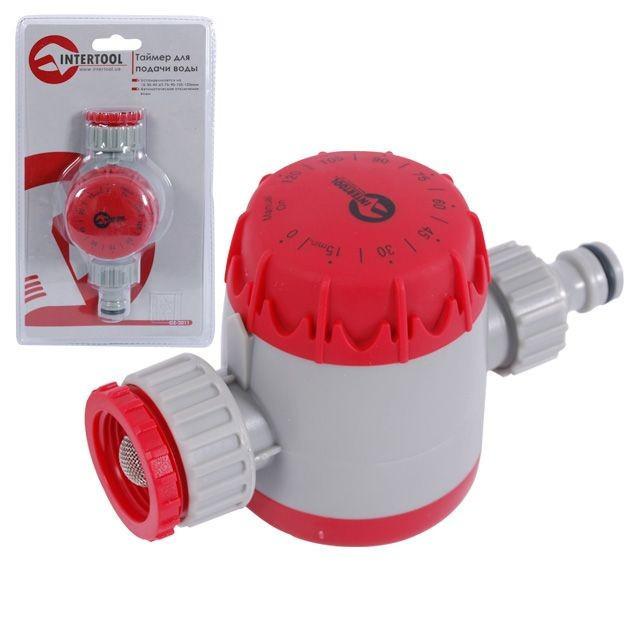 """Таймер для подачи воды с сеточным фильтром, внутренней резьбой на входе 3/4"""", 15;30;45;60;75;90;105;"""