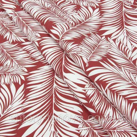Декоративная ткань для штор, листочки папоротника
