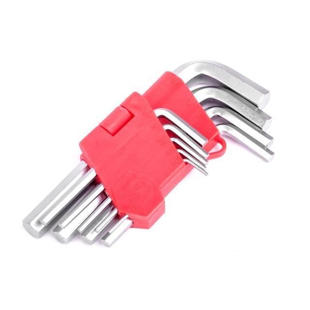 Набор Г-образных ключей шестигранных 9шт. 1.5-10мм Intertool HT-0601