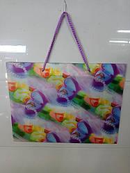 Подарочный пакет цветной 23*30*10 см