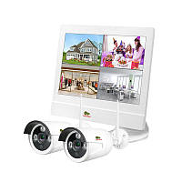 Комплект видеонаблюдения для помещения Partizan Outdoor Wireless Kit LCD 2MP 2xIP, фото 1