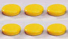 Магниты для досок Dahle, 24мм, цвет: желтый, упаковка/6шт.