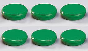 Магниты для досок Dahle, 24мм, цвет: зеленый, упаковка/6шт.