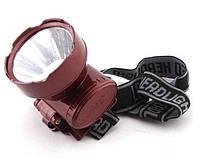 Налобный фонарь Yajia YJ-1898-1, Светодиодный фонарь, Аккумуляторный фонарь, Фонарь на голову