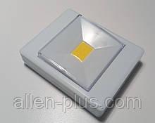Підсвічування універсальна у вигляді вимикача KL1701/305-COB, магніт, липучка, 4хААА