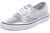 Кеды Vans (Metallic Leather) Silver. Кожа. Оригинал из США, фото 1