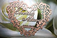 Манограмма инициалы на свадьбу. Деревянные буквы. Монограмма, фото 1