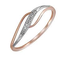 Кольцо из красного золота с бриллиантом 15.5