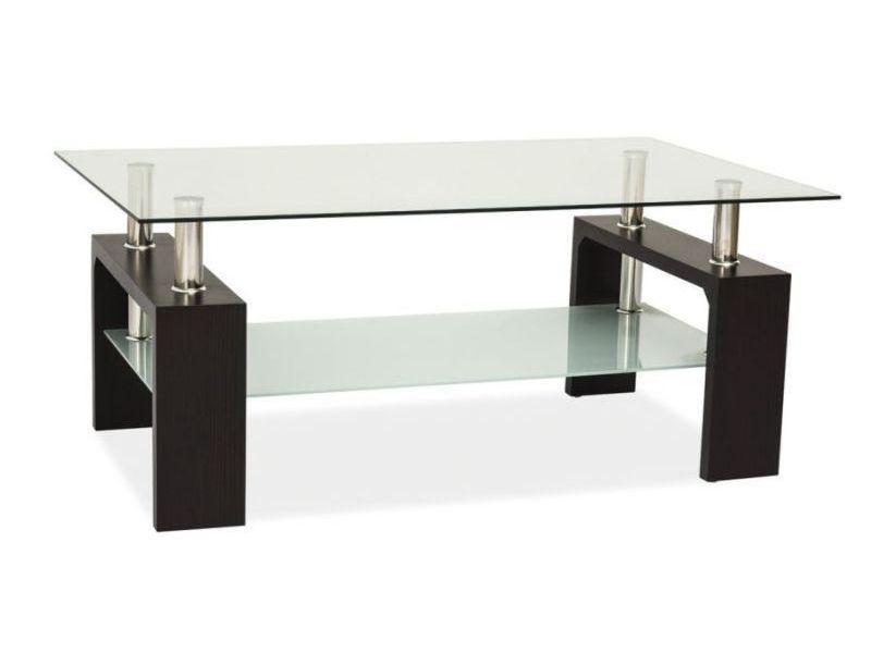 Журнальний кофейний стіл зі скла у вітальню Lisa Basic II Signal
