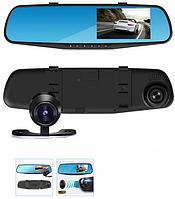 Авторегистратор L9000 Full HD 1080p зеркало заднего вида с двумя камерами экран 4.3 видеорегистратор