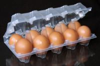 Упаковка для куриных яиц ПС-3610, пластиковая, 10 ячеек, 480 шт/уп