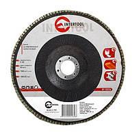 Диск шлифовальный лепестковый 180*22мм, зерно K60 Intertool BT-0226