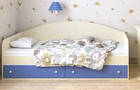 """Кровать-диванподростковая """"Жан"""" 70х140 см. Ваниль+Голубая"""