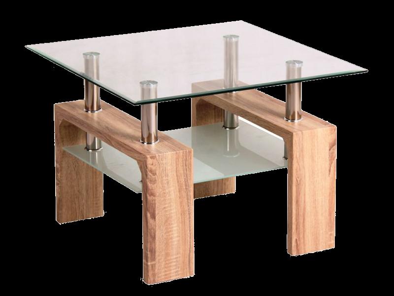 Журнальний кофейний стіл зі скла у вітальню Lisa D Basic Signal