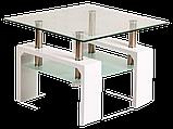 Журнальний кофейний стіл зі скла у вітальню Lisa D Basic Signal , фото 2
