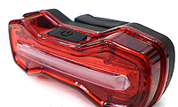 Фонарь велосипедный USB красный ZH-004-526-R
