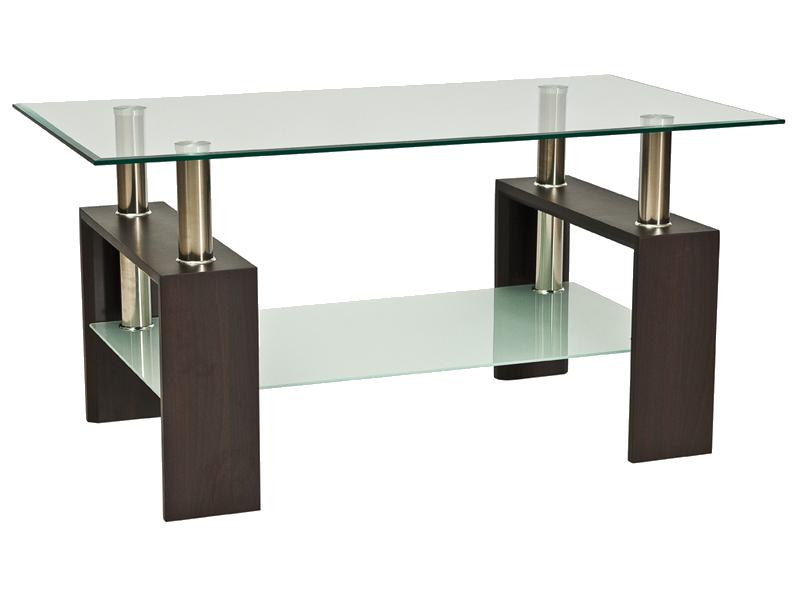 Журнальний кофейний стіл зі скла у вітальню Lisa II Signal