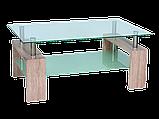 Журнальний кофейний стіл зі скла у вітальню Lisa II Signal , фото 3