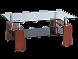 Журнальний кофейний стіл зі скла у вітальню Lisa II Signal , фото 4