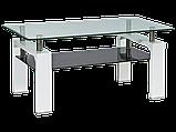 Журнальний кофейний стіл зі скла у вітальню Lisa II Signal , фото 5