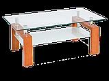 Журнальний кофейний стіл зі скла у вітальню Lisa II Signal , фото 6