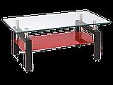 Журнальний кофейний стіл зі скла у вітальню Lisa II Signal , фото 7