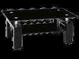 Журнальний кофейний стіл зі скла у вітальню Lisa II Signal , фото 9
