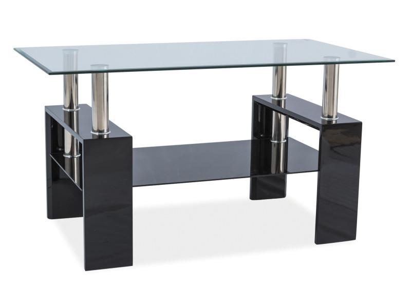 Журнальний кофейний стіл зі скла у вітальню Lisa III Signal
