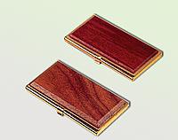 Металлический футляр для визиток bestar 1327wdm красное дерево
