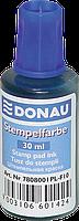 Штемпельная краска для печати donau 7808001-10 синяя 30 мл