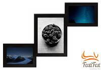 Мультирамка на 3 фото ( черная )
