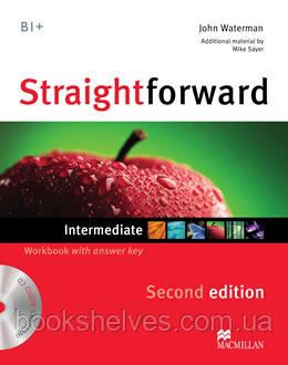 Straightforward 2nd Edition Intermediate Work Book + key + CD
