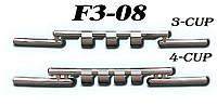 Передняя защита ус Chevrolet Niva 2002-2009 (ST009 d60 x 2мм)