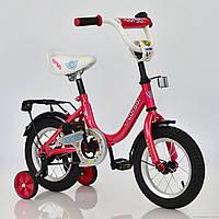 Велосипед 12 дюймов 2-х колесный С12030 CORSO розовый