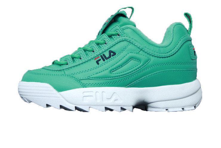 3795291df86d Женские кроссовки FILA Disruptor II 2 Green Blue Red - Интернет-магазин  обуви Parus Shop